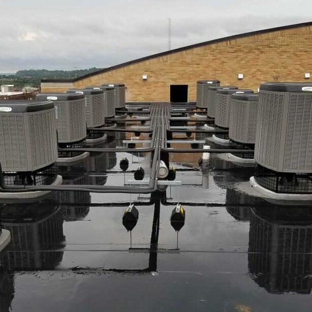 Aberdeen Apartments Rooftop Heating and Cooling Units